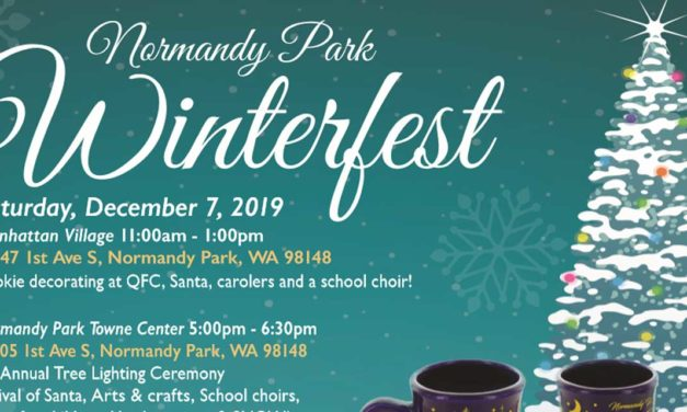 REMINDER: Winterfest returning to Normandy Park this Saturday, Dec. 7