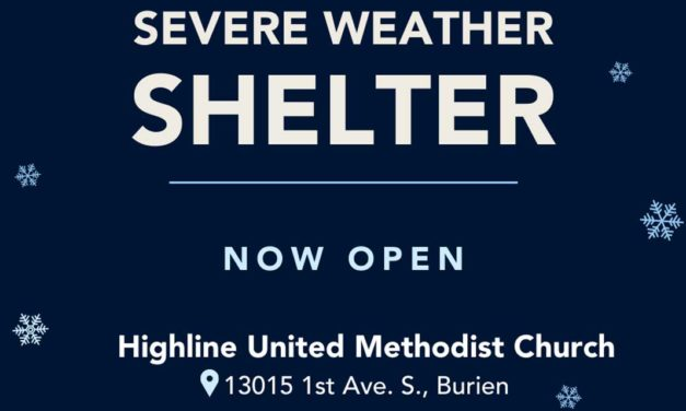 Organizers at Burien's Severe Weather Shelter seeking more Volunteers & donations