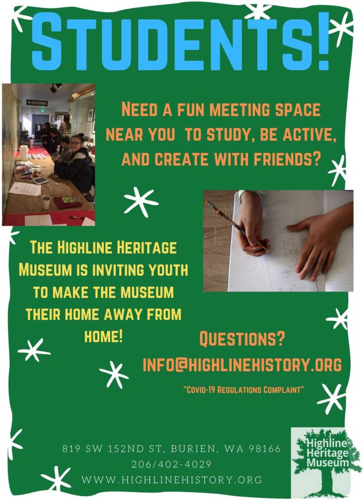 Highline Heritage Museum now offering space for students to study and create 1